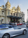 Casino and Ferrari, Monte Carlo, Monaco, Europe Photographic Print by Miller John
