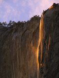 Late Afternoon Light on Horsetail Falls, Yosemite Valley, Yosemite National Park, California, USA Photographic Print by Kober Christian