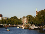 View over Amstel Canal, Amsterdam, Holland, Europe Photographic Print by Levy Yadid