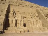 Great Temple of Ramses II, Abu Simbel, UNESCO World Heritage Site, Nubia, Egypt Fotografisk trykk av Harding Robert