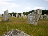 Megalithic Stones Alignments De Kremario, Carnac, Morbihan, Brittany, France, Europe Photographic Print by Levy Yadid