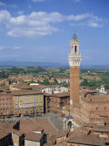 Mangia Tower and Buildings around the Piazza Del Campo in Siena, Tuscany, Italy Photographic Print by Lightfoot Jeremy