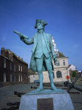 Statue of George Vancouver, Purfleet Quay, Kings Lynn, Norfolk, England, United Kingdom, Europe Photographic Print by Hunter David