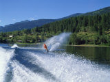 Waterskiing on Adams Lake, British Columbia, Canada, North America Photographic Print by Harding Robert