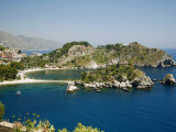 Isola Bella Island and Beach, Taormina, Sicliy, Italy, Mediterranean, Europe Photographic Print by Levy Yadid