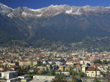 Aerial View over Innsbruck, Including the Karwendel Range Behind, Tirol, Austria, Europe Photographic Print by Gavin Hellier