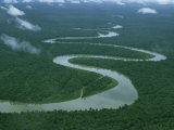 Meandering River, Irian Jaya, Indonesia, Southeast Asia Photographic Print by Leimbach Claire
