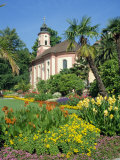 Church and Gardens on Insel Mainau in Bavaria, Germany, Europe Photographic Print by Hodson Jonathan