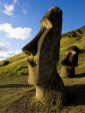 Giant Monolithic Stone Moai Statues at Rano Raraku, Rapa Nui, Chile Photographic Print by Gavin Hellier