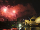 New Years Eve 2006, Opera House and Sydney Harbour, Sydney, New South Wales, Australia Photographic Print by Kober Christian