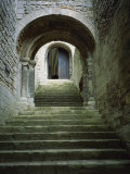 Stairs to Keep of Castle, Castle Rising, Norfolk, England, United Kingdom, Europe Photographic Print by Hunter David