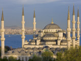 Blue Mosque in Sultanahmet, Overlooking the Bosphorus, Istanbul, Turkey Photographic Print by Gavin Hellier