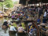 Floating Market, Thailand, Southeast Asia Fotografisk trykk av Miller John