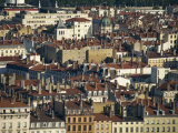 Rooftops of Houses and Churches of Presqu'Ile, Lyon, in the Rhone Valley, Rhone Alpes, France Photographic Print by Hughes David