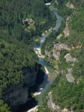 Aerial View of the Gorges Du Tarn from Roc Des Hourtous, in Lozere, Languedoc Roussillon, France Photographic Print by Hughes David