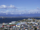 Boats Float in the Beagle Channel, the Capital of Tierra Del Fuego Province, Ushuaia, Argentina Photographic Print by McCoy Aaron