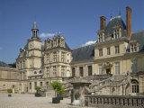 Palace at Fontainebleau, UNESCO World Heritage Site, Seine-et-Marne, Ile De France, France Fotografisk trykk av Harding Robert