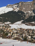 Ski Resort of Flims in Winter with Snow on the Ground in the Graubunden Region of Switzerland Photographic Print by Miller John