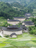Hakka Tulou Round Earth Buildings, UNESCO World Heritage Site, Fujian Province, China Photographic Print by Kober Christian