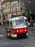 Tram, Prague, Czech Republic, Europe Photographic Print by Levy Yadid