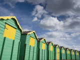 Colourful Beach Huts, Littlehampton, West Sussex, England, United Kingdom, Europe Lámina fotográfica por Miller John