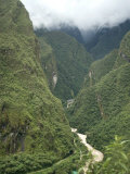 Urubamba River Flows Below Machu Picchu, Peru, South America Photographic Print by McCoy Aaron