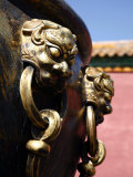Lion Handle on a Bronze Urn at the Forbidden City, Beijing, China Photographic Print by Levy Yadid