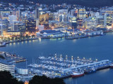 Oriental Bay and Wellington Harbour, Wellington, North Island, New Zealand, Pacific Photographic Print by Kober Christian