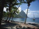 Pitons, St. Lucia, Windward Islands, West Indies, Caribbean, Central America Fotografisk trykk av Harding Robert