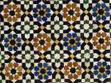 Mosaic Tilework, Zaouia Moulay Idriss, an Islamic Shrine, Fes El Bali, Fes, Morocco Photographic Print by Morandi Bruno