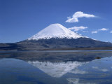 Parinacota Volcano and Lake Chungara in the Lauca National Park, Chile, South America Photographic Print by Mcleod Rob