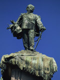 Statue of Vittorio Emanuele II, Famous for His Small Stature, in the City of Turin, Piemonte, Italy Photographic Print by Maxwell Duncan