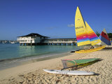 Yellow Boat, Pebble Beach, Barbados, West Indies, Caribbean, Central America Photographic Print by Lightfoot Jeremy
