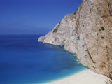 Sea and Cliffs at Shipwreck Cove on Kefalonia, Ionian Islands, Greek Islands, Greece, Europe Photographic Print by Lightfoot Jeremy
