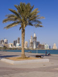 City Skyline, West Bay Financial District Viewed from the Corniche, Doha, Qatar, Middle East Photographic Print by Gavin Hellier