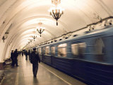 Arbatskaya Metro Station, Moscow, Russia, Europe Photographic Print by Lawrence Graham