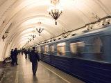 Arbatskaya Metro Station, Moscow, Russia, Europe Photographic Print by Lawrence Graham