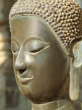 Head of the Buddha in the Hophrakeo Museum in Vientiane, Laos, Indochina, Southeast Asia Photographic Print by Mcleod Rob