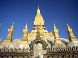 Stupas at Wat That Luang in Vientiane, Laos, Indochina, Southeast Asia Photographic Print by Mcleod Rob