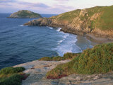 Rocky Coastline and Beach Near Punt De Moras on the North Coast, Rias Altas in Galicia, Spain Photographic Print by Maxwell Duncan