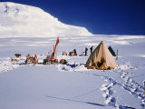 Camp at Bottom of Leneketali, Same Site as Amundsen, Antarctica, Polar Regions Photographic Print by Herbert Wally