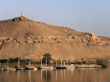 Overlooking the River Nile and the Tombs of the Nobles, Aswan, Egypt, North Africa, Africa Photographic Print by Mcconnell Andrew