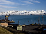 Harbour, Barentsburg, Spitsbergen, Svalbard, Norway, Scandinavia, Europe Photographic Print by Milse Thorsten