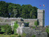 Medieval Walls Surrounding the Parador, Bayona, Galicia, Spain, Europe Photographic Print by Maxwell Duncan