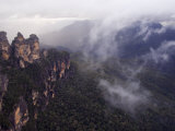 Three Sisters Rock Outcrops at Katoomba, Blue Mountains National Park, New South Wales, Australia Photographic Print by Kober Christian