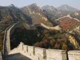 Autumn Colours on the Great Wall of China at Badaling, China Photographic Print by Kober Christian