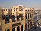 Restored Souq Waqif with Mud Rendered Shops and Exposed Timber Beams, Doha, Qatar, Middle East Photographic Print by Gavin Hellier