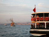 People on the Boat Crossing the Bosphorus, Istanbul, Turkey, Europe Photographic Print by Levy Yadid