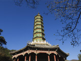 Seven Tier Pagoda in Fragrant Hills Park in the Western Hills, Beijing, China Photographic Print by Kober Christian