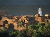 Village De Tinghir, Vallee Du Dades, La Palmeraie De Tinerhir, Ouarzazate Region, Morocco Photographic Print by Morandi Bruno